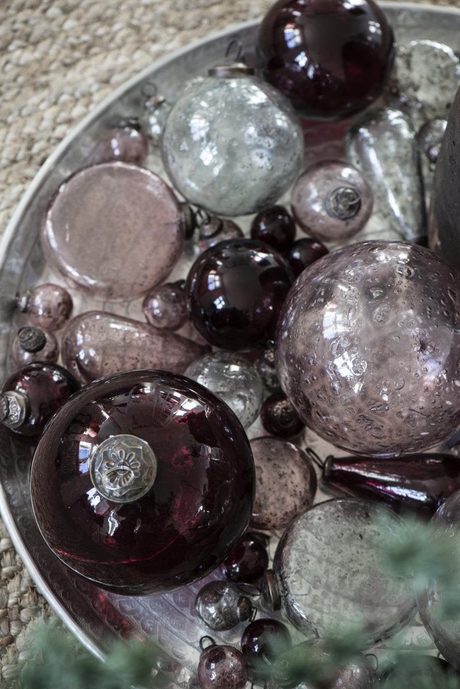 Beutel mit 8 gleichen Weihnachtskugeln mini