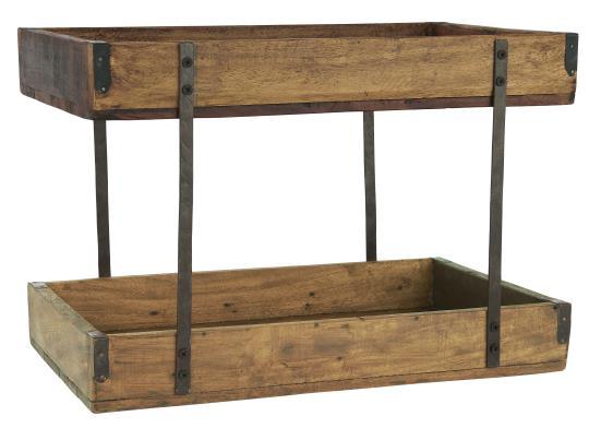 Holztablett 2-stufig
