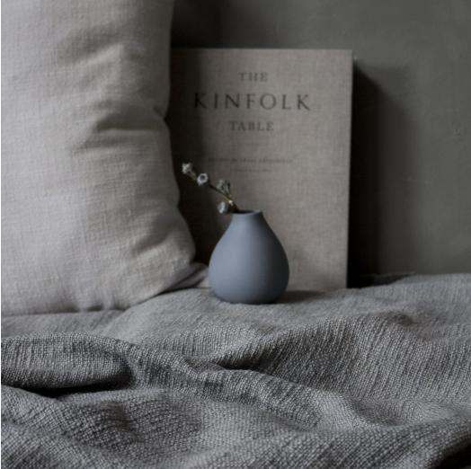 Källa vase small, blue hoch