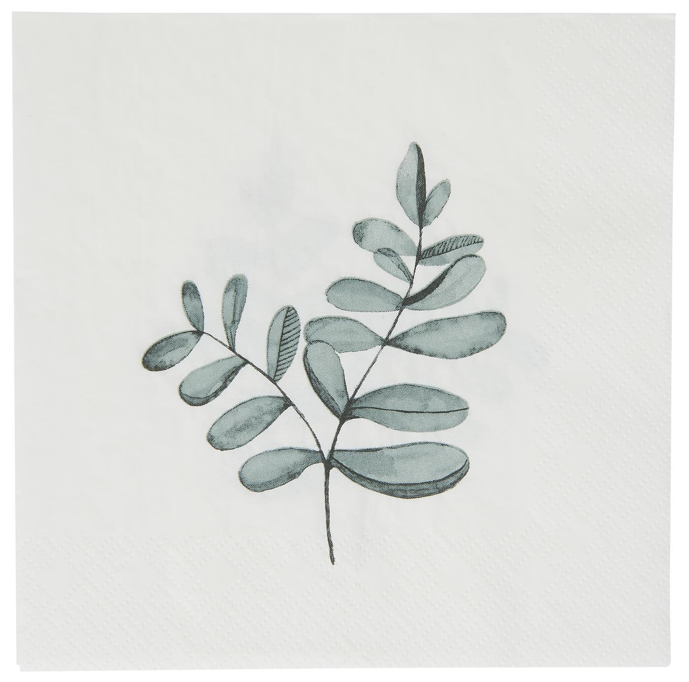Serviette Eukalyptuszweig