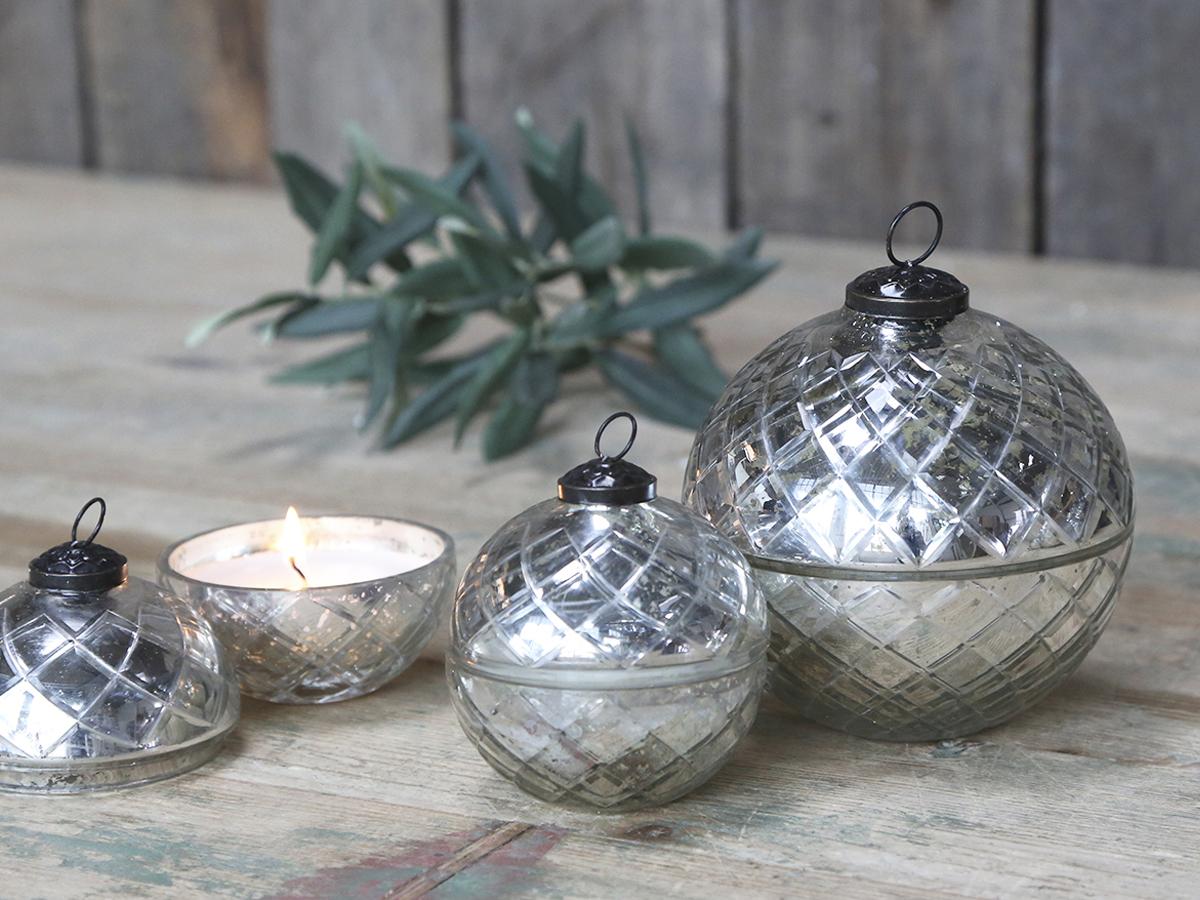 Christmas Ball Silver Copper White 10x10x10