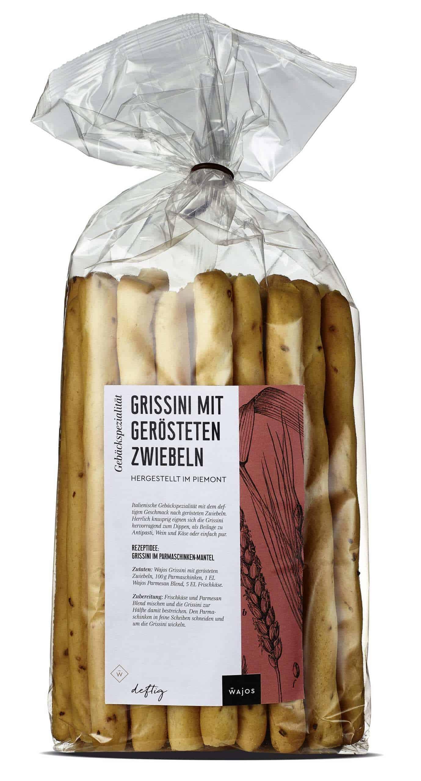 Grissini mit gerösteten Zwiebeln