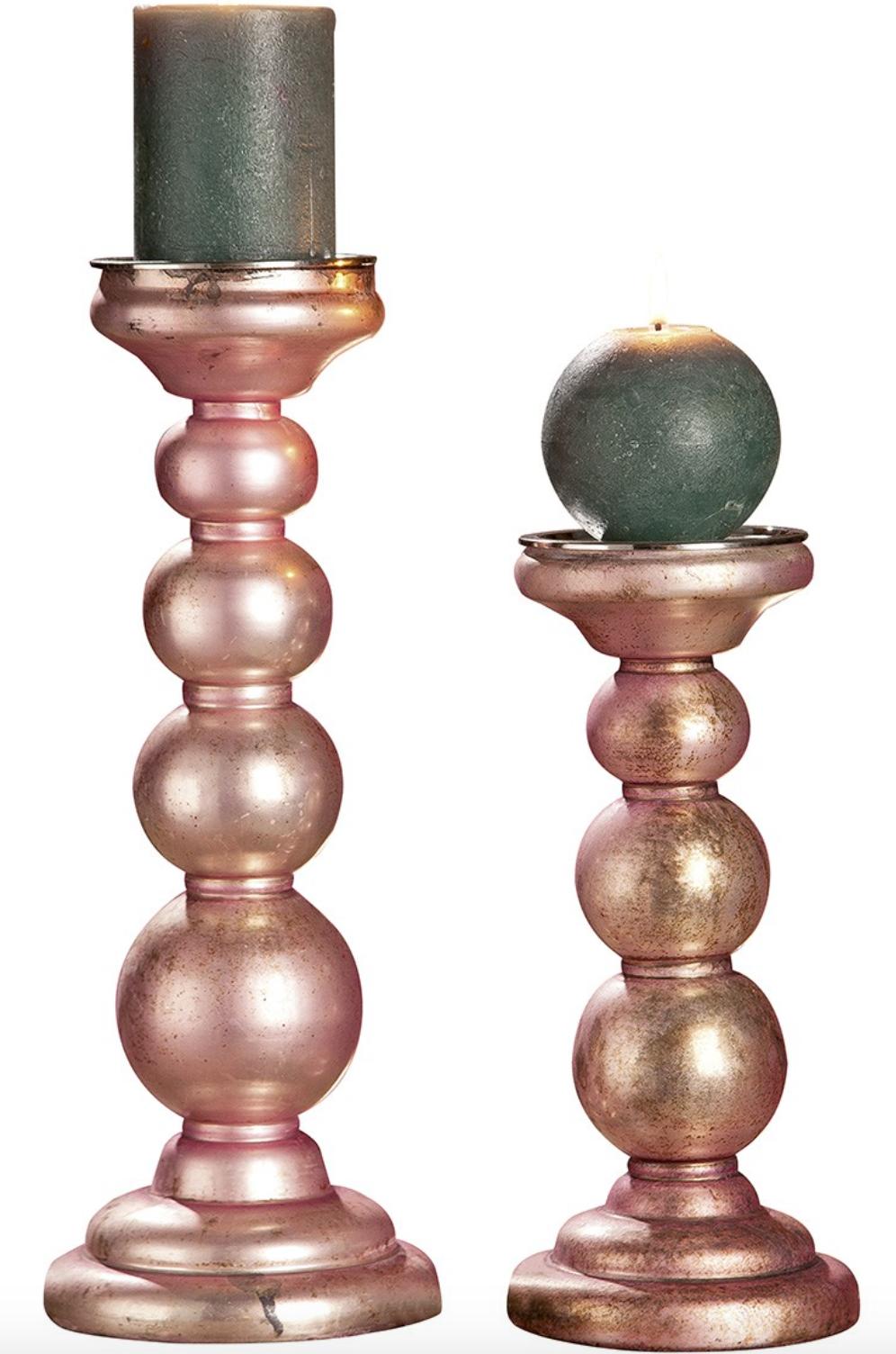 "Glas Kerzenhalter ""Rosy"" rosa (klein)"