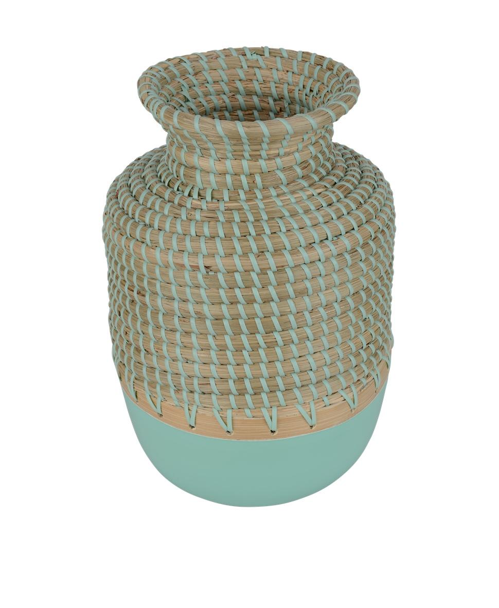 Deko-Vase beige / türkis