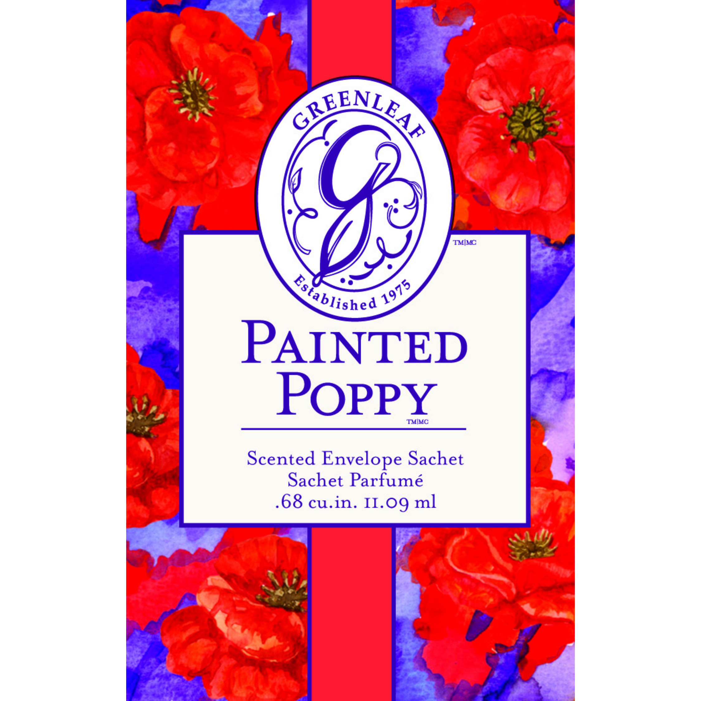 Painted Poppy Duftsachet (klein)