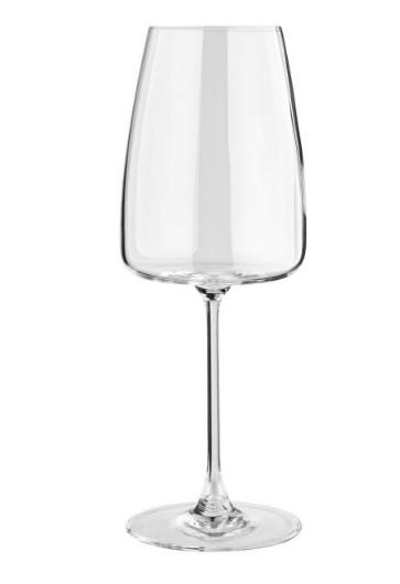 Eckiges Roséweinglas