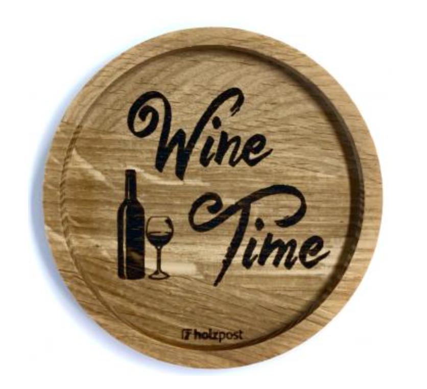 Untersetzer #Wine Time