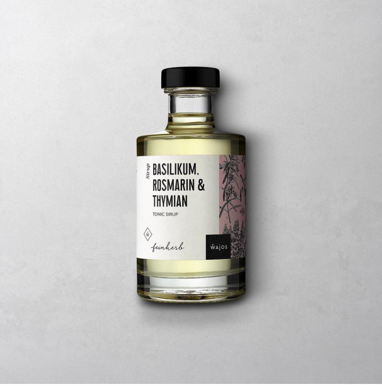 Basilikum, Rosmarin, Thymian - Tonic Sirup