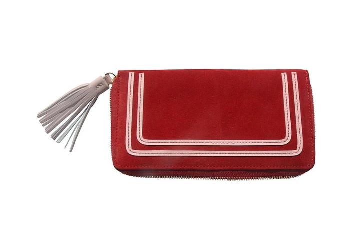 Geldbörse mit Tassel (red/rose)