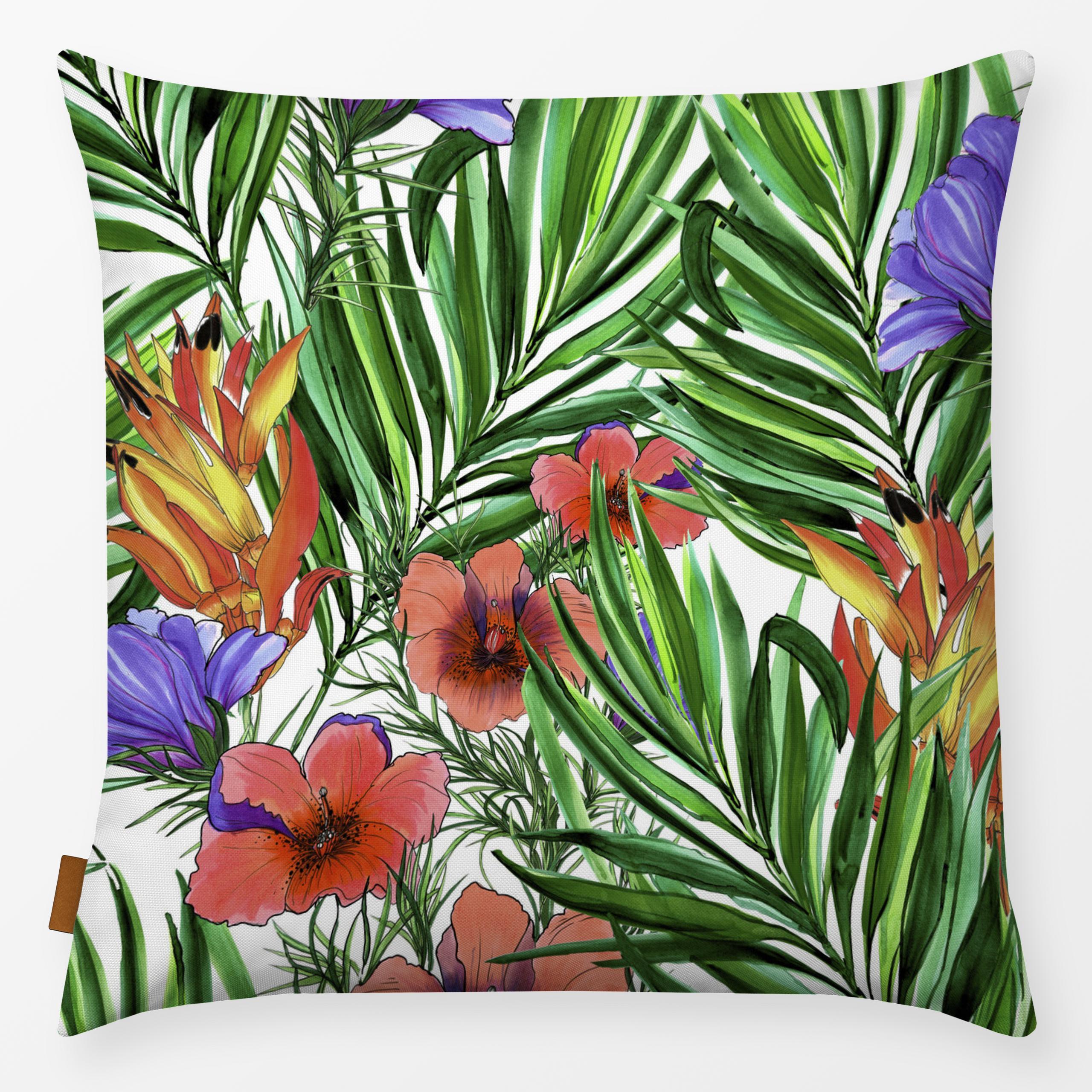 "Kissen ""Tropische Blumen"""