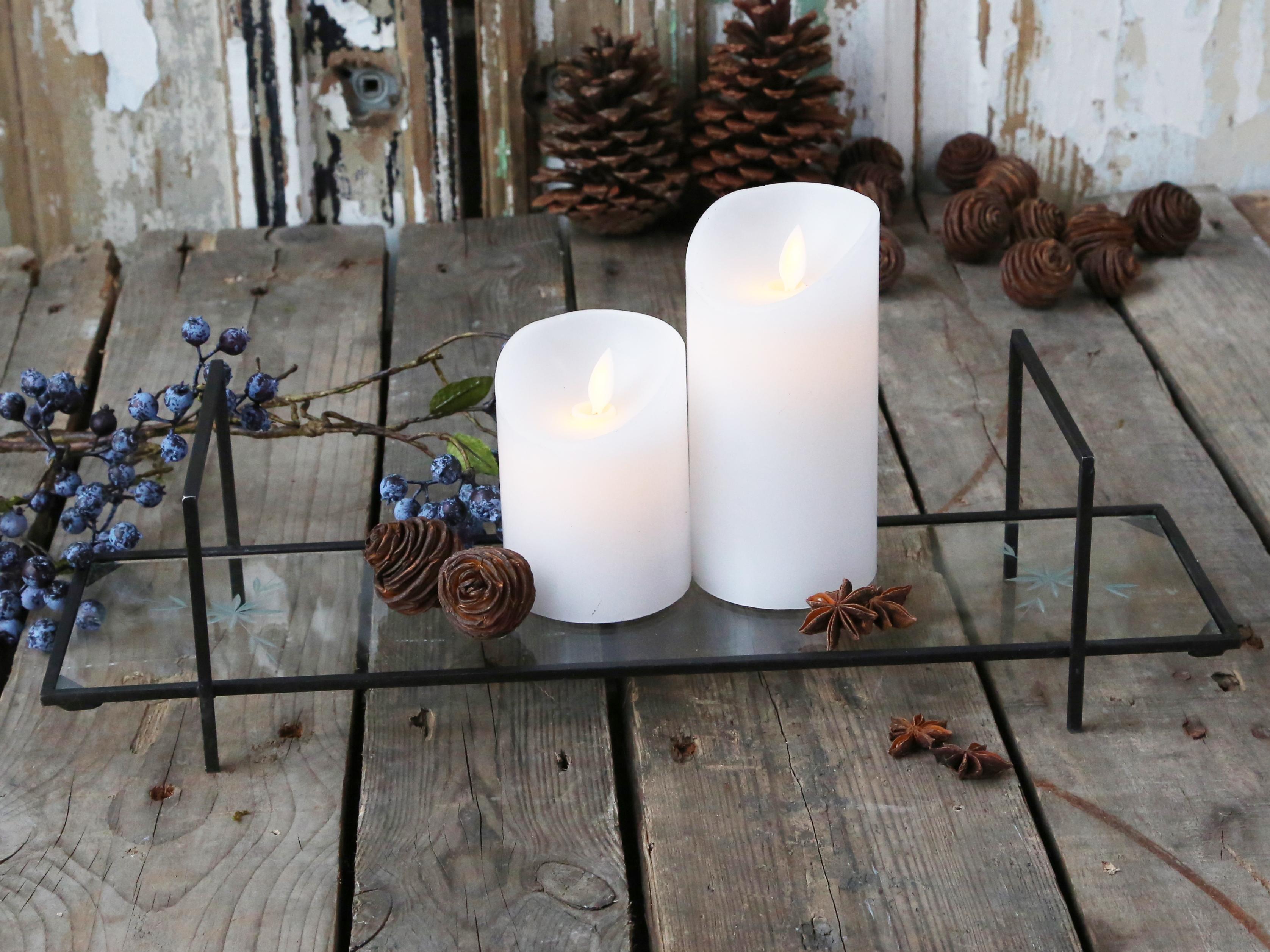 Kerzenhalter mit Glasschliff und Griff