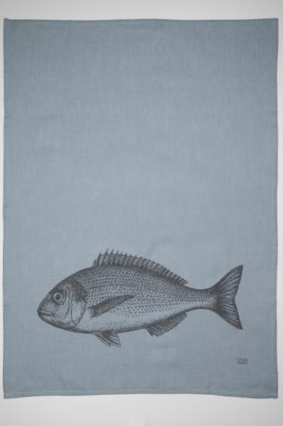 Geschirrtuch Halbleinen, FISH