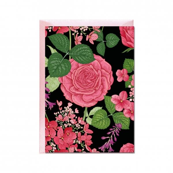 "Faltkarte ""Rose"""