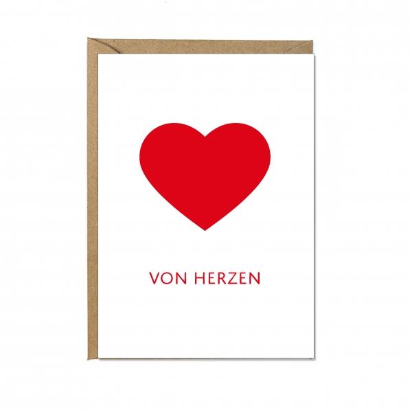 """Faltkarte """"VON HERZEN"""""""