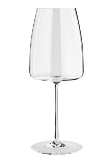 Eckiges Rotwein-Glas