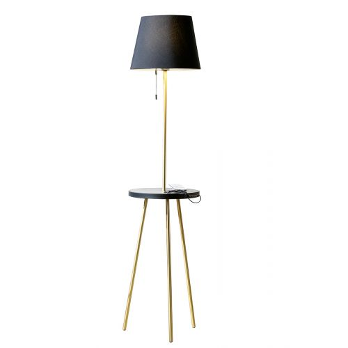 Stehlampe mit Tisch