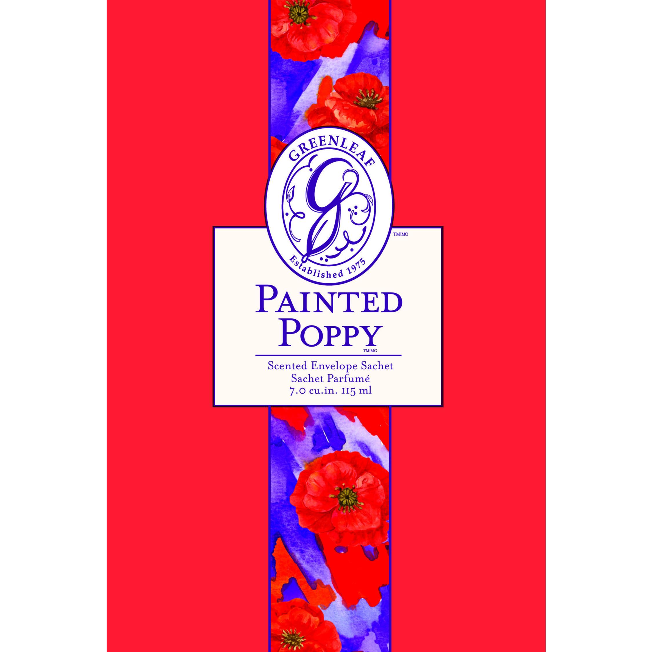 Painted Poppy Duftsachet (groß)