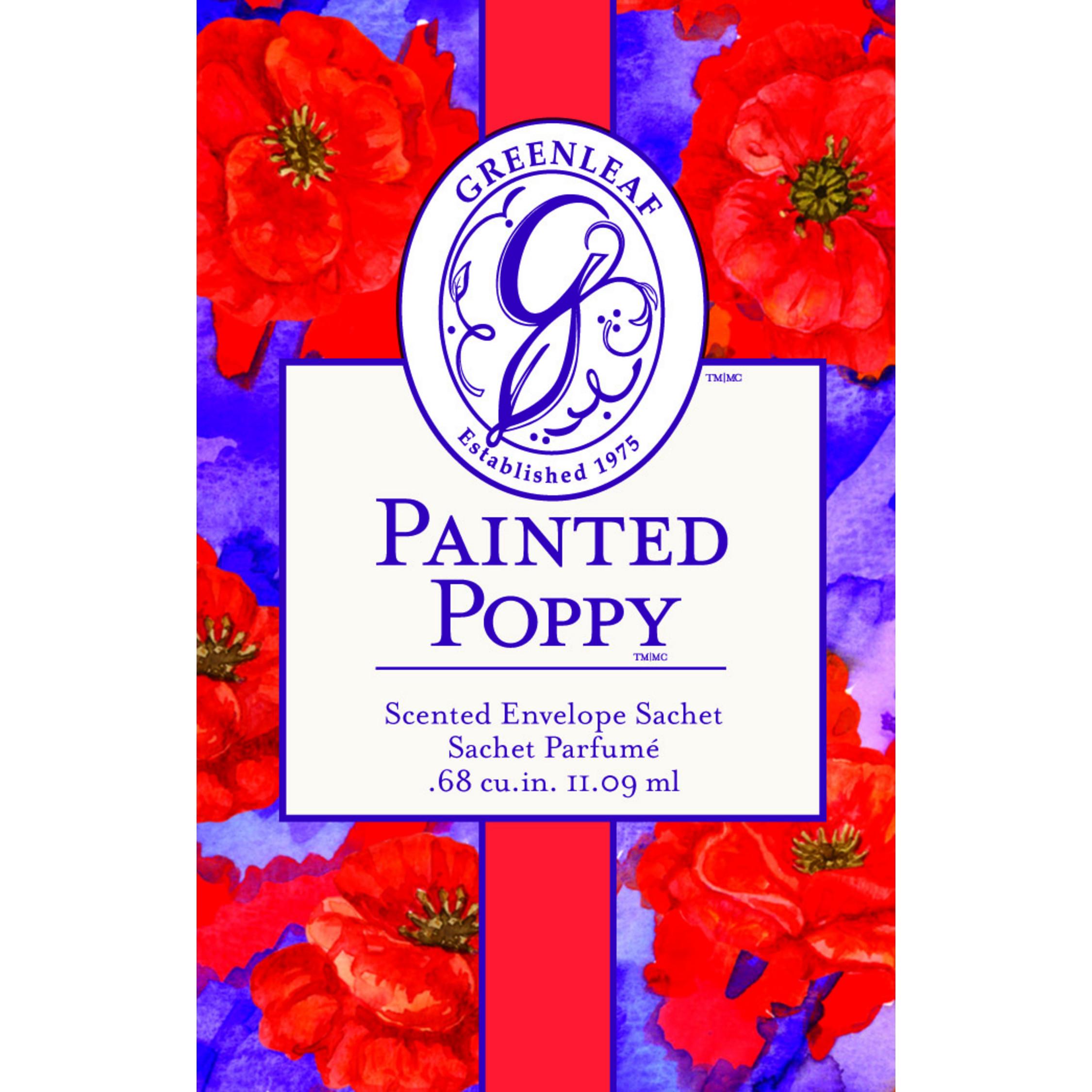 Painted Poppy Duftsachet (klein)