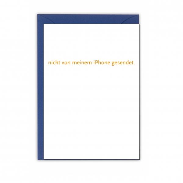 """Faltkarte """"NICHT VON MEINEM IPHONE GESENDET"""""""