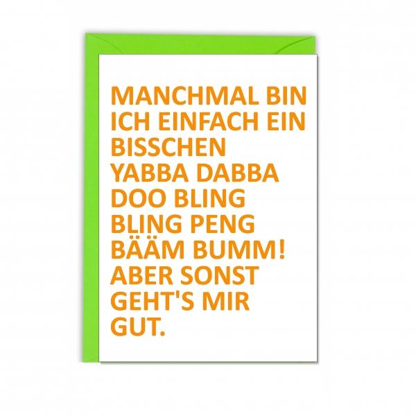 """Faltkarte """"MANCHMAL"""""""