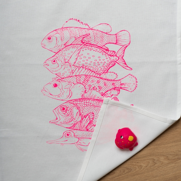 "Geschirrtuch ""5 Fische"""