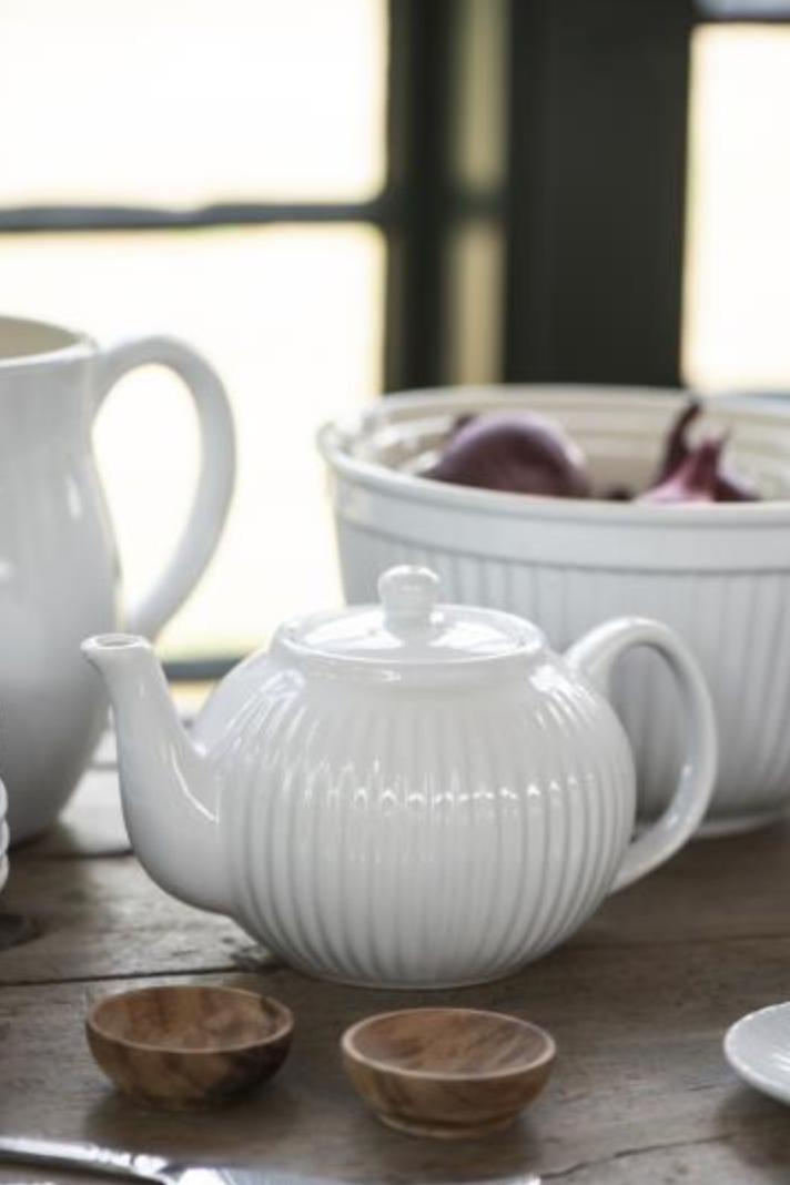 Teekanne 1 ltr Mynte Pure White