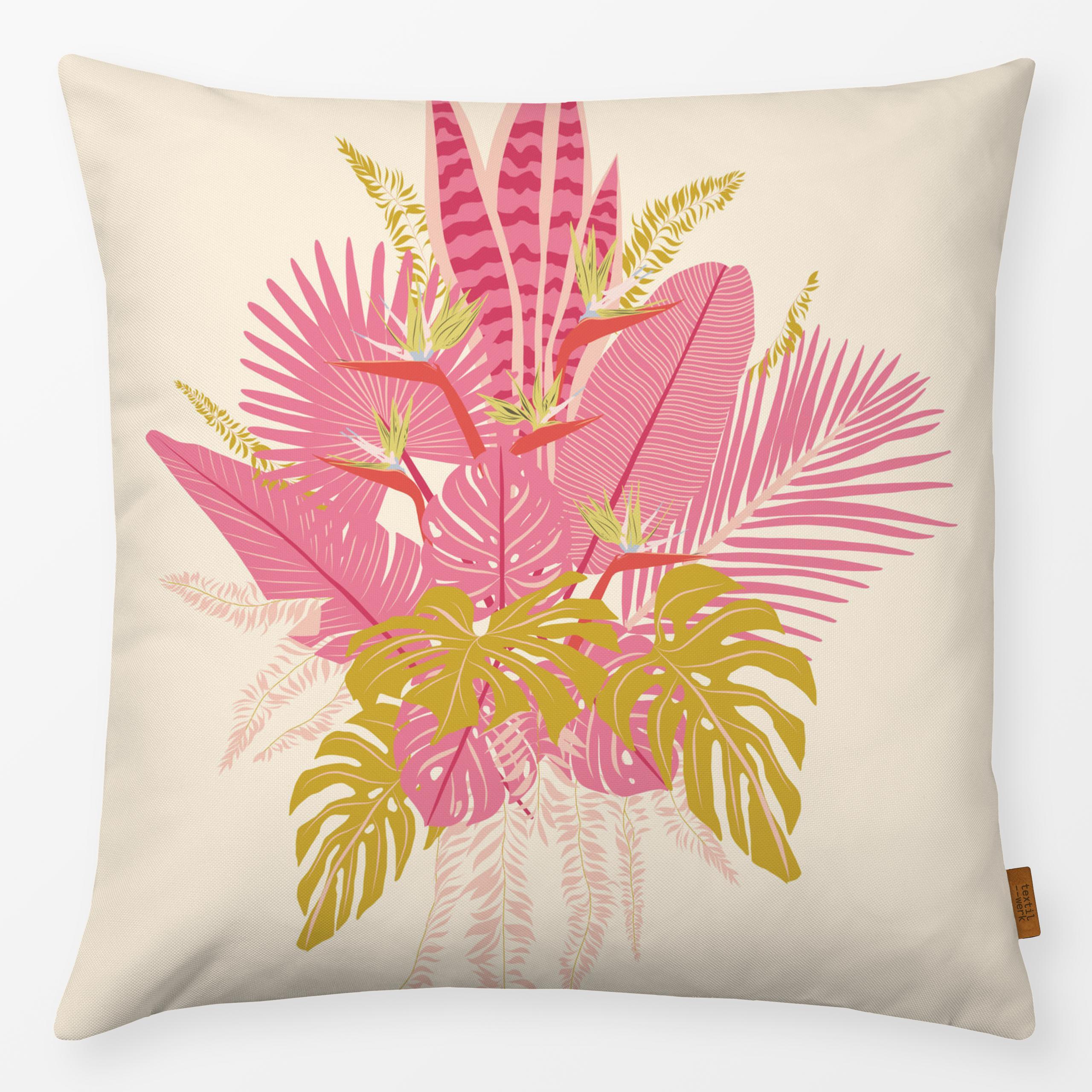 "Kissen ""Jungle Bouquet Pink"""